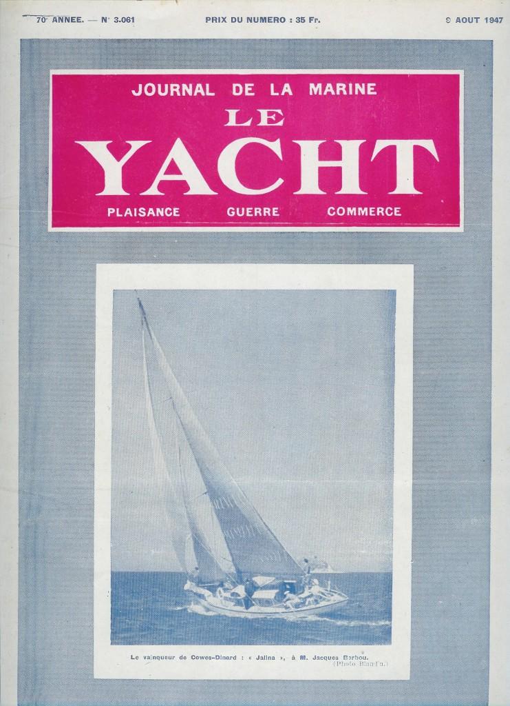 Le Yacht 9 aout 1947